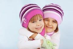 Winter kids stock photo