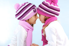 Winter kids Stock Image