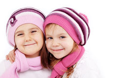 Winter kids Royalty Free Stock Images