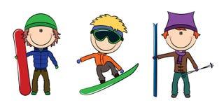 Winter kids activities Royalty Free Stock Image