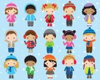 Winter Kids Children Vector Stock Photos