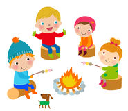 Winter kids Royalty Free Stock Photos