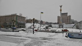 Winter in Kiev. Beautiful pictures taken in Ukraine Stock Photography