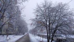Winter in Kiev. Beautiful pictures taken in Ukraine stock images