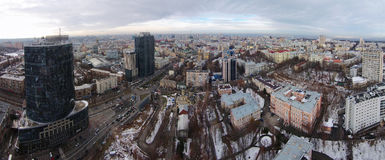 Winter in the Kiev city, aerial view Stock Photos