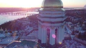Winter Kiev Lavra stock video footage