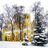 Winter in Kiev - St Volodymyrs Cathedral Royalty Free Stock Photography