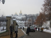 Winter in Kiev Royalty Free Stock Photography