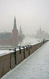 Winter kind on the Red square stock photo