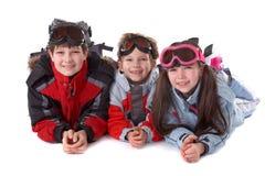 Winter-Kinder lizenzfreie stockbilder