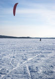 Winter kite Stock Images