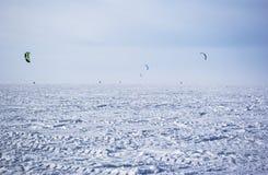 Winter kite Stock Images
