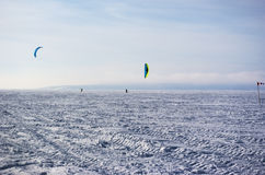 Winter kite Royalty Free Stock Images