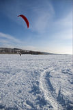 Winter kite Stock Image