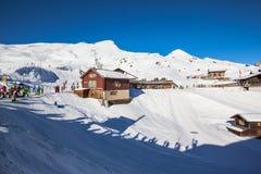 Winter of Kleine Scheidegg, time for skiing Stock Photo