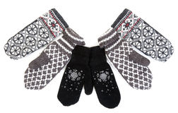 Winter knitted gloves Stock Image