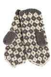 Winter knitted mittens Royalty Free Stock Images