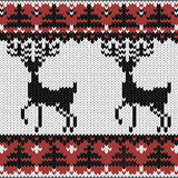 Winter knitted nordic pattern Royalty Free Stock Photo