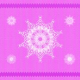 Winter Knitted Pink Pattern Royalty Free Stock Photography