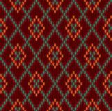 Winter Knitted woolen seamless jacquard ornament. Burgundy Royal Sweater. Knitted woolen seamless jacquard ornament. Burgundy Royal Sweater vector illustration
