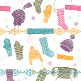 Winter knitting background Royalty Free Stock Images