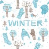 Winter knitting background Royalty Free Stock Photo
