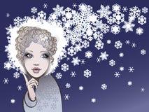 Winter kommt Stockbild