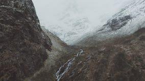 Winter kommt in Süd-Norwegen stock video footage