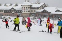 Winter. In Krasnaya Polyana - on the Plateau Rosa Stock Image