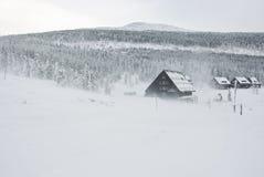 Winter in Krkonose 2. Winter in Krkonose Czech mountains near Maly Sisak hill Stock Photo