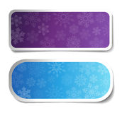 Winter Labels - Banners Royalty Free Stock Photo