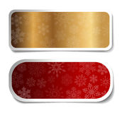 Winter Labels - Banners Stock Images