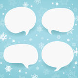 Winter labels in form of speech bubbles Royalty Free Stock Images