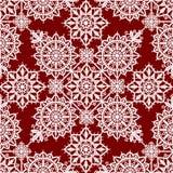 Winter Lace Seamless Pattern Stock Photo