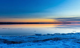 Winter Lachine Quebec Lizenzfreies Stockfoto