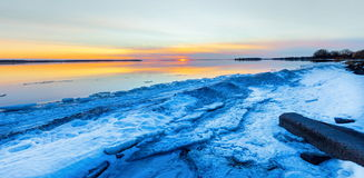 Winter Lachine Quebec Lizenzfreie Stockfotos