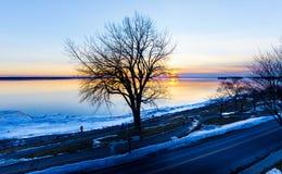 Winter Lachine Quebec Stockfotografie