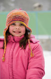 Winter lady. Happy portrait of a girl during winter Stock Image