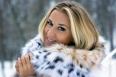 Winter lady Stock Photos
