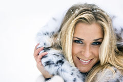 Winter lady Royalty Free Stock Photography