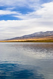 Winter lake. This is the Qinghai Lake, one of the most famous Chinese lakes Royalty Free Stock Photos