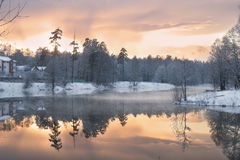 Winter lake Royalty Free Stock Image