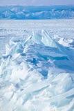 Winter lake Baikal Stock Image
