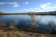 Winter Lake. Bear Creek Lake, Denver/Lakewood, Colorado, USA stock photo