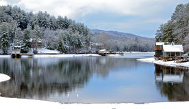 Winter on the Lake Stock Image