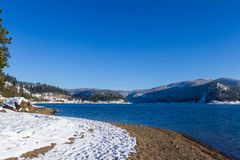 Winter in lake Coeur d' Alene Stock Photos