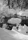 Winter, Lake Creek Stock Image