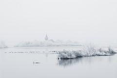 Winter lake Royalty Free Stock Photos