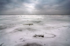 Winter On Lake Erie Stock Image