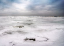 Winter On Lake Erie Stock Images